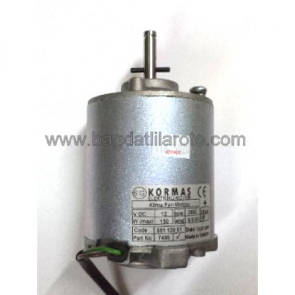 Klima fan motoru 12V kısa 661 139 01 KORMAS
