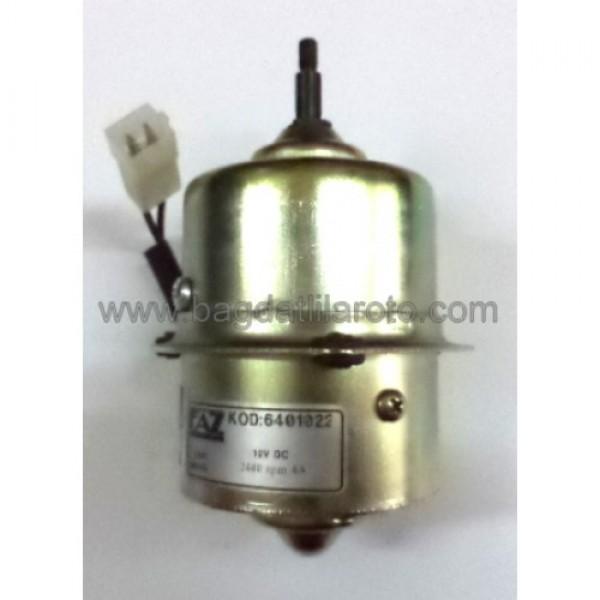 Turbo havalandırma fan motoru 12V tek devir pasolu MAN 6401022 FAZ