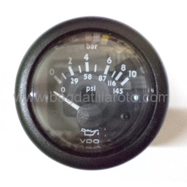 Yağ saati 12V 10 bar çap 52mm VDO MARINE N02 124 130