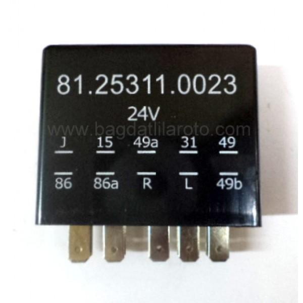 Elektronik flaşör 24V 10 uçlu soketli (HELLA 4DZ 004 834-161, FLAG 12 0500) İTHAL